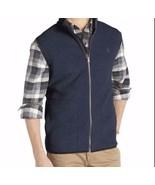 IZOD Solid Polar Fleece Mens Zipper Front Outerwear Vest Size Small - $39.99