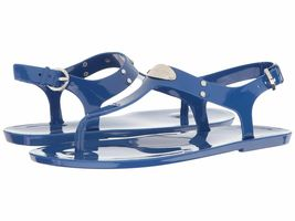 Michael Kors MK Premium Plate Jelly Thong Rubber T-Strap Shoes Sandals image 12