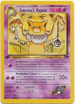 Sabrina's Hypno 56/132 Uncommon 1st Edition Gym Challenge Pokemon Card