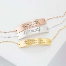 Handwritten Gold Bracelet • Custom Handwriting Bracelet • Friendship Bracelet