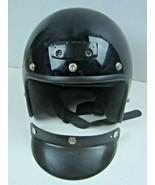 Bell Custom E02 Open Face Motorcycle Helmet w/ visor Vintage Black Sz LG... - $79.48