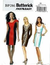 BUTTERICK PATTERN 286 MISSES/MISSES PETITE DRESS SIZE BB (8-14) - $8.98
