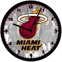 "Miami Heat LOGO Homemade 8"" NBA Wall Clock w/ Battery Included - $23.97"