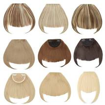 100% Natural Thin Bangs Fringe Clip in Hair Extensions Front Bangs image 9