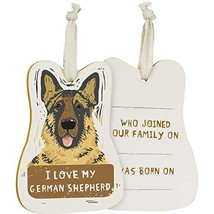 Primitives by Kathy Wooden Hanging Ornament, 2-Sided - I Love My German Shepherd - $10.45