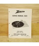 Vintage Zenith Service Manual Z924 Record Players 169-373,374, 375 Part ... - $9.89