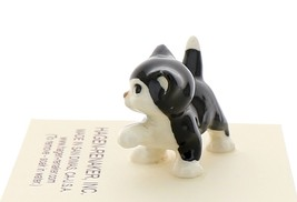 Hagen-Renaker Miniature Ceramic Cat Figurine Black and White Tuxedo Cat Set image 6
