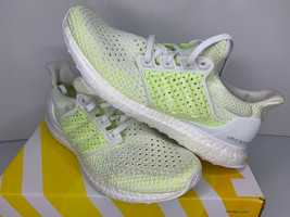 NEW SIZE 8 Adidas Ultra BOOST Clima Running Sneakers White Solar Yellow ... - $89.09