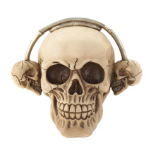Skull Statue, Skull Party Decorations Aquarium Rockin' Headphone Skull F... - €17,71 EUR