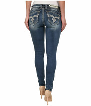 Rock Revival Women's Premium Skinny Light Denim Jeans Woven Pants Adele S41