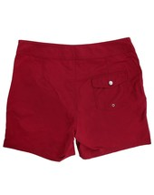 Lacoste Men's Premium Surf Swim Trunks Board Shorts Bordeaux Red image 2