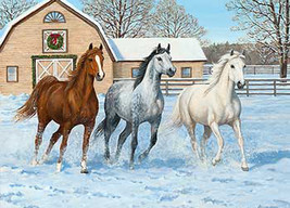 Horses In Snow Cross Stitch Pattern***LOOK*** - $4.95