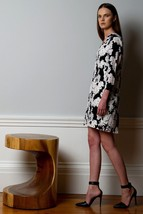 New 4.collective Floral Vines Silk Dress BLACK COMBO Retail $288 Size 0 - $71.28