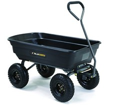 Gorilla Carts GOR4PS Poly Garden Dump Cart with Steel Frame and 10-in. P... - $92.20
