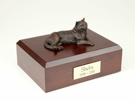 Tabby Bronze Cat Figurine Pet Cremation Urn Available in 3 Diff Colors &... - $169.99+
