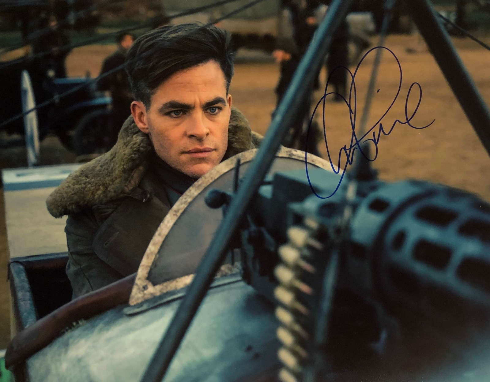 Primary image for CHRIS PINE AUTOGRAPHED Hand SIGNED 11x14 PHOTO WONDER WOMAN Steve Trevor w/COA