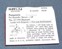 PHONOGRAPH NEEDLE STYLUS for Panasonic EPS 13 14 15 EPC34 STA N491-7d image 2