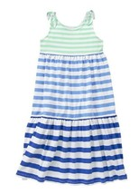 GYMBOREE NWT Mint Blue Stripe ColorBlock Maxi Dress Size 6-12 Months Baby Girl - $14.84