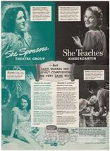 Pond's Cold Cream '40s AD Vanishing Cream teacher tennis Beatrice Straig... - $12.59