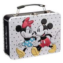 Walt Disney Classic Mickey and Minnie Mouse Large Tin Tote Lunchbox NEW ... - $13.50