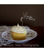 Cupcake Topper Set Mr Mrs Perfect For Small Wedding Decor - $25.00