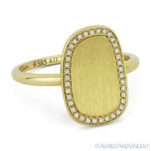 0.11ct Round Cut Diamond 14k Yellow Gold Right-Hand Brushed-Finish Fashi... - €421,03 EUR