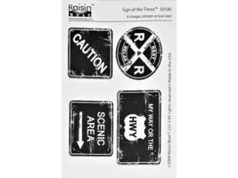 Raisin Boat Stamps Sign of the Times Clear Cling Stamp Set #10100