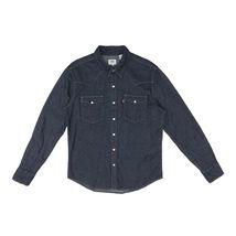 Levi's Men's Classic Barstow Western Casual Denim Dark Wash Dress Shirt image 4