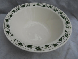 4 Homer Laughlin Sylvan Rim Soup Cereal Bowls Round Green Ivy Leaves Brittany - $25.24