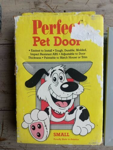 Vintage 1980 USA made 2 Way Perfect Pet House Door SMALL easy install dog cat  - $29.77
