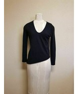 NWT WOMEN Rachel Zoe 100 % cashmere V neck Black Sweater size P $325 - $79.18