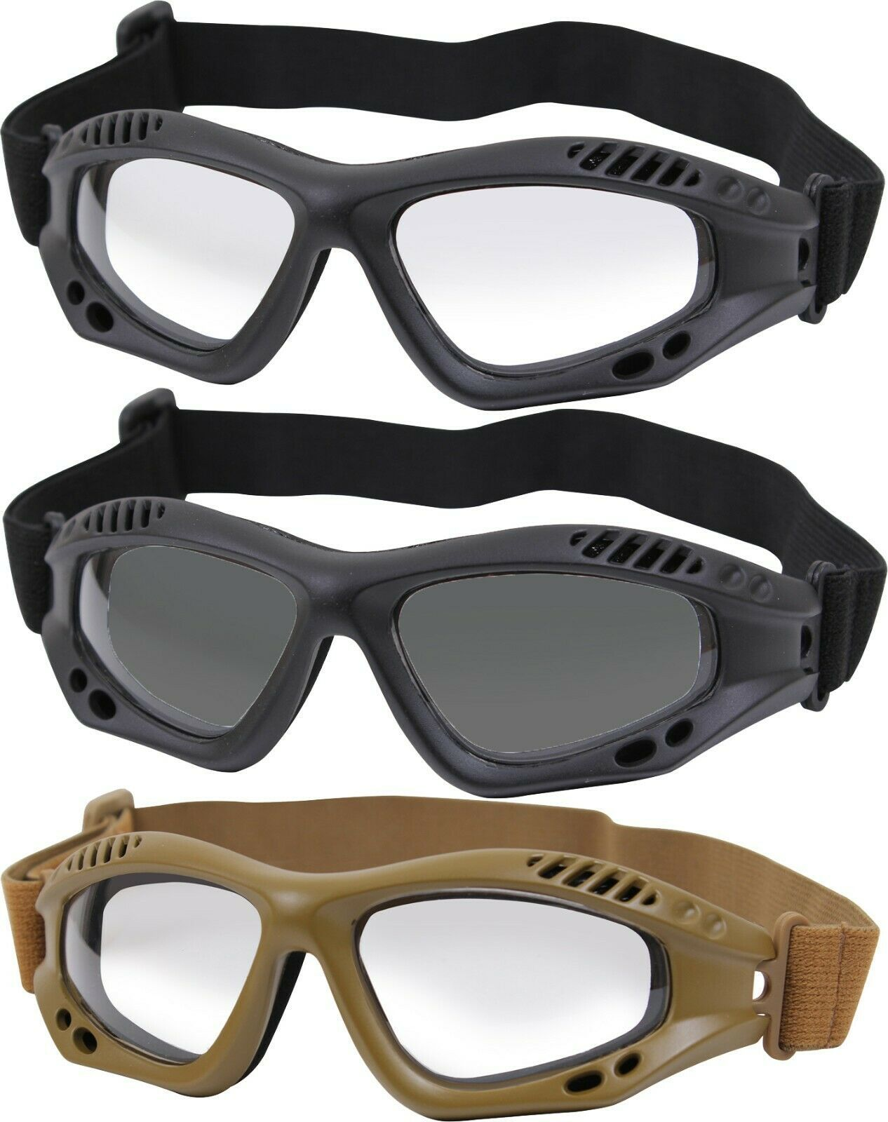 Primary image for Ventec Anti-Fog Tactical Goggles ANSI-Z87-1 RATED UV 400 Shatterproof Lenses