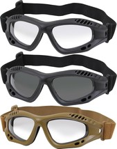 Ventec Anti-Fog Tactical Goggles ANSI-Z87-1 RATED UV 400 Shatterproof Le... - $14.99