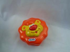 Little Tikes Animal Figure Orange Plastic Lion Clicker Toy - As Is, Very... - $1.34