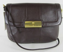 COACH NWT Rich Burgundy Leather Cross-body Detachable Strap Wallet Pouch - $115.47