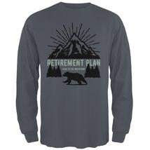 Retirement Plan Head To The Mountains Mens Long Sleeve T Shirt - $20.95+