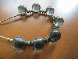 "Gray color Crystal 'Pools of Light"" Vintage Necklace 19"" inches long - $49.99"