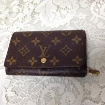 Authentic Louis Vuitton Mono Brown Leather Bi-Fold-Zip Wallet 5.5inx3.75in  (#5) - $151.95