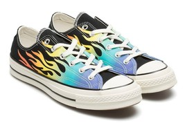 Converse Chuck Taylor All Star 70 Ox Black with Flames 164407C (7 Men / ... - $80.00