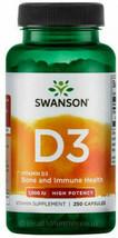 Vitamin D3 1000IU 250 Capsules Immune Health Swanson Supplement - $21.17