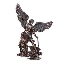 Pacific Giftware St. Michael The Archangel Defeating Satan Cold Cast Bronze Coll - $69.29