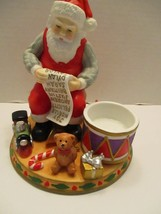 Partylite Santa Claus Checking his List Tealight Candle Holder Christmas - $10.93