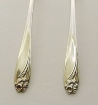 """1847 Rogers Daffodil Set of 4 Dinner Forks 7 1/2"""" Silverplate 1950's-2 A... - $42.52"""