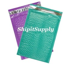 2-500 #000 4X8 Poly ( Purple & Teal ) Color Bubble Padded Mailers Fast S... - $2.99+