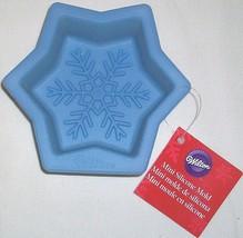 "3 lot Wilton Blue 3.75"" Mini Silicone Baking Mold Snowflake Safe up to 4... - $15.95 CAD"