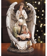 Guardian Angel with the Holy Family Figurine - $79.95