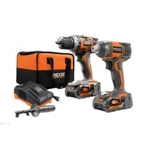 RIGID 18-V Lith-Ion Cordless Drill/Driver and Impact Driver 2-Tool Kit 2... - $180.97
