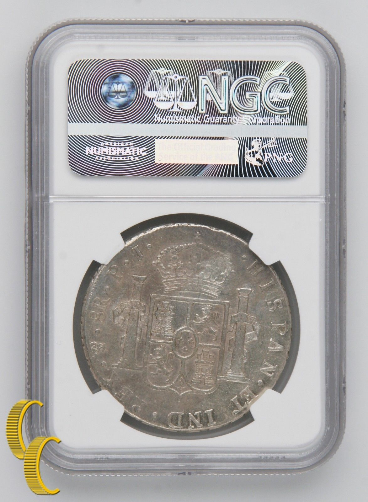 1807PTS PJ BOLIVIA 8R XF DETAILS By NGC Silver Coin 8 Reales KM-73