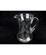 "Vintage Wine pitcher, Wide Bottom Decanter, Grape Etched Design 8"" Tall ... - $34.25"