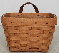 """Longaberger Small Wall Hanging Key Basket with Protector 1995 6x4"""" - $24.65"""